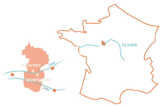 Montlouis-Vouvray Location Map